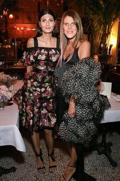 Giovanna Battaglia and Anna Dello Russo. Vogue and Vanity Fair Dinner, March 7 2016