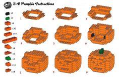 LEGO 3-D Pumpkin Instructions #LEGO #pumpkin #instructions
