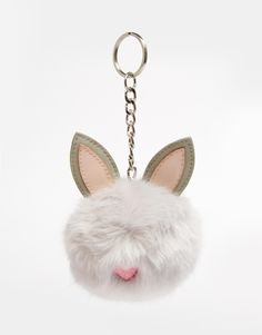 Image 1 of ASOS Rabbit Pom Keychain