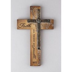 Intaglio Resin Wall Cross - Faith - All Things by Dicksons Gifts Wooden Crosses, Crosses Decor, Wall Crosses Diy, Cross Wall Decor, Old Rugged Cross, Cross Art, Cross Crafts, Pallet Art, Pallet Cross