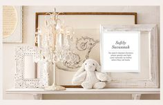 Rooms | Restoration Hardware Baby & Child PEACH, BEIGE and OFF-WHITE room. Shabby Chic.