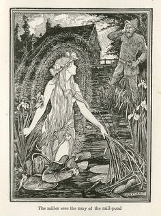 The Miller Sees the Nixy of the Mill-Pond    Henry Justice Ford (1860-1940)