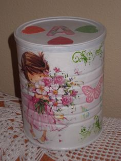 1 million+ Stunning Free Images to Use Anywhere Decoupage Tins, Decoupage Tutorial, Tin Can Crafts, Diy And Crafts, Painted Tin Cans, Wine Painting, Recycle Cans, Rock Painting Ideas Easy, Shabby Chic Crafts