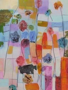 """Saatchi Art Artist Sarah Stokes; Painting, """"flowers, fields by the highway"""" #art"""