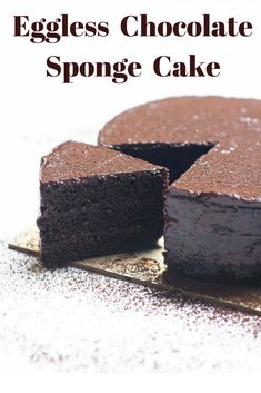 This Eggless Chocolate Sponge Cake is super moist and light. Perfect for icing and frosting purposes. Easy to make, one bowl cake recipe. Sour Cream Chocolate Cake, Eggless Desserts, Chocolate Sponge Cake, Chocolate Cake Recipe Easy, Eggless Baking, Chocolate Cakes, Vegan Chocolate, Delicious Desserts, One Bowl Cake Recipe