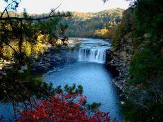 Waterfall At 76 Falls Indian Creek Lake Cumberland Ky