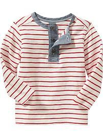 Boy Toddler Waffle-Knit Henleys for Baby