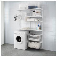 IKEA - ALGOT Wall upright/shelves/drying rack white
