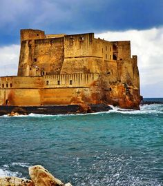 Beautiful Castel dell'Ovo. Naples, Italy