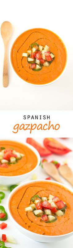 (Vegan and GF) Spanish Gazpacho #vegan #glutenfree