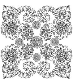Free coloring page coloring-anti-stress-flowers.