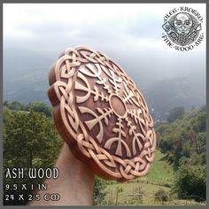 THE HELM OF AWE HAND MADE WOOD CARVED PICTURE #Parchment #Ragnar #Viking #Odin #Home Decor #Art #Norse #Wood Picture #Pagan Gods #Carving #Wood Work #Heathen #Asatru #Celtic #Norse #Rune #Wall Hanging #Ragnarok #Valkiria #Thor #Thor hammer #rune #Knotwork #Wall art #Berserk #Valknut  #Walknut #Fenrir # wood carving #norse décor #yggdrasil #rustic # sculpture #skull #raven #loki #freya #mjolnir #drakkar #drakar #amulet #awe #vegvisir #metallica
