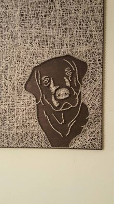 Lab Face String Art by PawtiqueCollars on Etsy Nail String Art, String Crafts, Crafts To Do, Arts And Crafts, Art Crafts, Arte Linear, String Art Patterns, Thread Art, Art Yarn