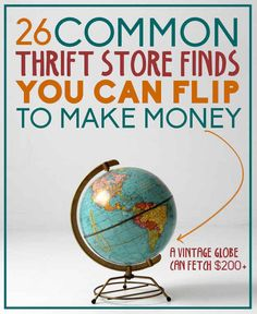 20 common thrift store (or garage sale) finds you can flip to make money Thrift Stores, Thrift Shop Finds, Online Thrift Store, Thrift Store Shopping, Shopping Hacks, Store Hacks, Extra Money, Extra Cash, Big Money