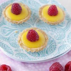 Meyer Lemon & Raspberry Tartlets - the perfect bite-sized treat