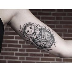 Love my russian doll tattoo! #tattoo #Matrioshka #babushka #russiandoll #ink