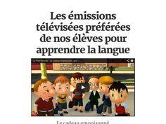 Les émissions télévisées préférées de nos élèves pour apprendre la langue