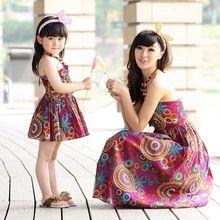 Family móda jar 2013 leto žena dieťa z jedného kusu šaty Čechy princezná šaty podväzkový sukne Hot New Doprava zdarma (Čína (pevninská časť))