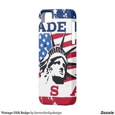 Vintage USA Badge iPhone 5 Cases