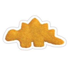 'dino nugget' Sticker by Lauren Scott Bubble Stickers, Food Stickers, Bumper Stickers, Dinosaur Chicken Nuggets, Dinosaur Wallpaper, Gamer Pics, Homemade Stickers, Chicken Humor, Aesthetic Stickers