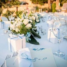 Blue & white wedding theme. Private via wedding reception in Crete.  Personalized stationery for inquiries contact us at info@royalblueevent.gr
