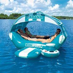 Overtons : SportsStuff Cabana Islander - Watersports  Lake  Pool Leisure  Party Island Floats : Lake Toys, Lake Rafts, Water Toys, Floating Decks, Rafts