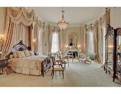 love the drapes and matching bed draping