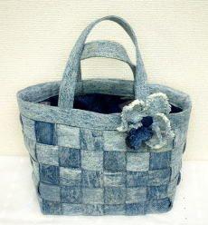 ジーンズをリフォームして 作ったバック Denim Purse, Purses And Bags, Upcycled Crafts