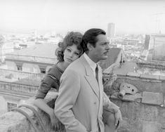 Sophia Loren and Marcello Mastroianni on the set of the film 'Marriage Italian Style'