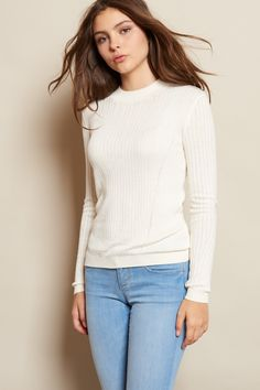 Midi Mockneck Rib Sweater