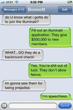 texts from bennett hahaha