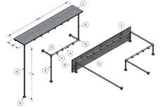 Ook u kan zelf uw interieur maken met steigerbuizen, buiskoppelingen en steigerhout!