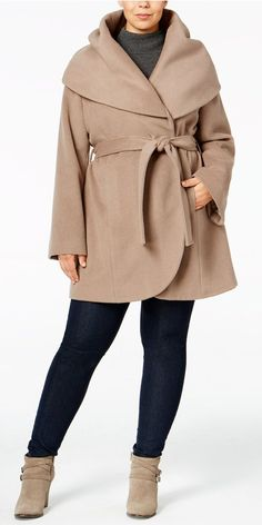 Plus Size Wrap Coat                                                                                                                                                                                 More