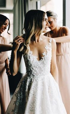Wonderful Perfect Wedding Dress For The Bride Ideas. Ineffable Perfect Wedding Dress For The Bride Ideas. Wedding Dress Shopping, Dream Wedding Dresses, Aline Wedding Dress Lace, Lace Wedding Gowns, Weding Dresses, Dresses Dresses, Dresses Online, Wedding Dresses With Color, Tulle Wedding