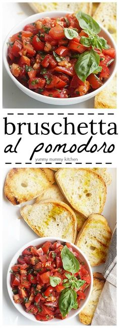 This authentic Italian tomato bruschetta recipe is so easy to make! This appetizer is a delicious way to use summer tomatoes. (Italian Recipes)