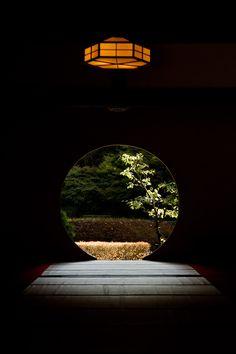 Window of full moon by Genzo Toride | Meigetsu-in temple in Kita-Kamakura