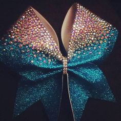 3 inch Glitter Rhinestone Cheer Bow by FullOutBowtique on Etsy