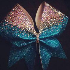The Chloe Bow-3 inch Glitter Rhinestone Cheer Bow