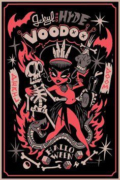Jekyl & Hyde Voodoo Halloween: Print and T-shirt on Behance