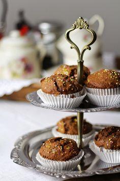 Muffins de chocolate com far trigo satraceno  {Dica para fazer bolos fofos com farinha integral}