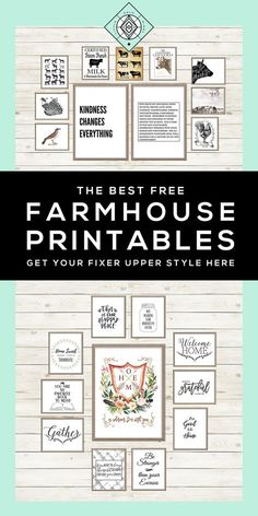 Decor Hacks : 40 Free Farmhouse Printables for that Fixer Upper Vibe Little Gold Pixel on Country Farmhouse Decor, Farmhouse Style Kitchen, Modern Farmhouse Kitchens, Farmhouse Design, Farmhouse Wall Art, Farmhouse Ideas, Modern Country, Vintage Farmhouse, Rustic Modern