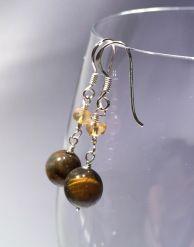 tiikerinsilma-ja-sitriini-korvakorut Drop Earrings, Jewelry, Fashion, Moda, Jewlery, Jewerly, Fashion Styles, Schmuck, Drop Earring
