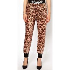 Stylish Leopard Print Straight-leg Pants For Women
