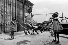 Girls jumping rope Brownsville 1972