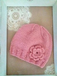 Baby Knit Hat, Baby Hat, Baby Winter Hat, Baby Hat With Flower Hand made baby hat using beautiful soft and warm wool and acrylic yarn. Available in sizes newborn to 5 years old. Newborn size ready to ship. Different colors. All my products are made in my home. If you can not find exactly what you Baby Girl Winter Hats, Baby Hats, Knitted Hats, Crochet Hats, Wool Yarn, 5 Years, Baby Knitting, Knitting Patterns, Ship