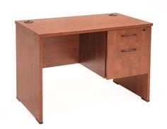Sandia Collection Single Pedestal Desk in Cherry