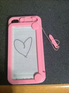 Etch a sketch and magna-doodle! iPhone 4 case