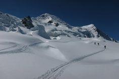 THE Skitour, up to Mont Blanc, Chamonix. World Class, Alps, Mount Everest, Teaching, Mountains, Nature, Travel, Mont Blanc, Naturaleza