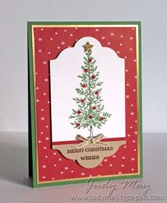 Stampin' Up! Lovely as a Tree for The Heart of Christmas - Judy May, Just Judy Designs