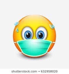 Illustration about Cute emoticon wearing medical mask - emoji. Illustration of emoticon, surgeon, character - 96186260 Smiley Emoji, Images Emoji, Emoji Pictures, Animated Emoticons, Funny Emoticons, Emoji Mignon, Frosch Illustration, Funny Emoji Faces, Cute Emoji Wallpaper
